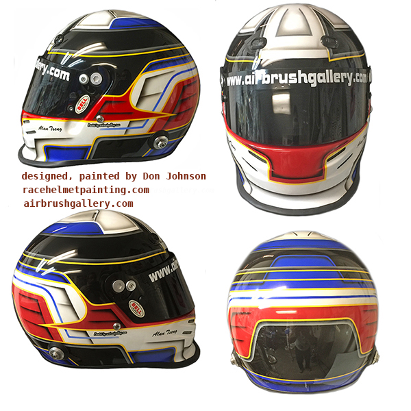 Simpson Race Helmet American Flag Design