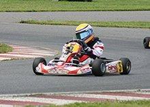 Christian Rutty racing his Kart