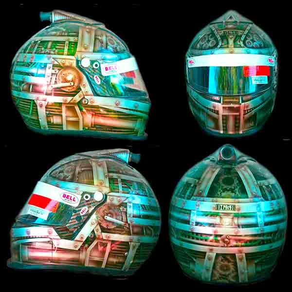 Bell helmet machine theme