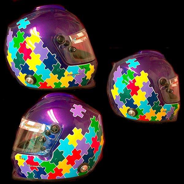 bell helmet puzzle design 1