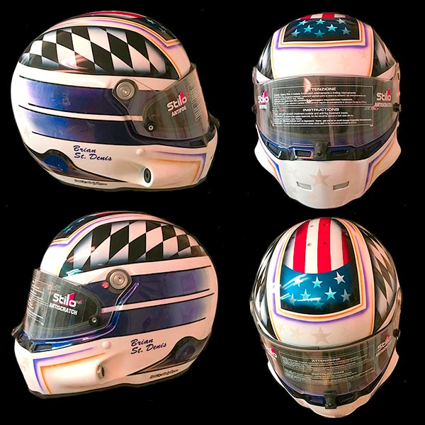 Stilo helmet checker flag slanted