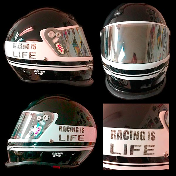 bell helmet racing is life 2