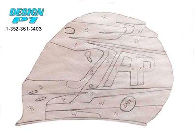 pencil sketch helmet design