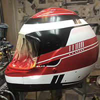 helmet painting underway