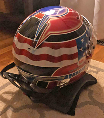 bell race helmet design for driver chris berg