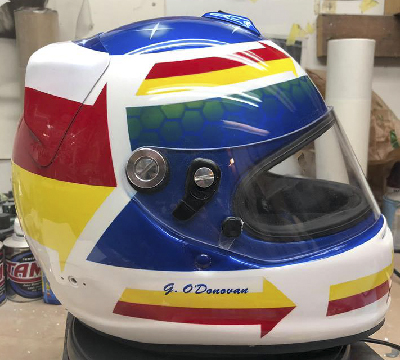 Arai custom race helmet