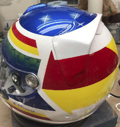 Graham arai race helmet 1