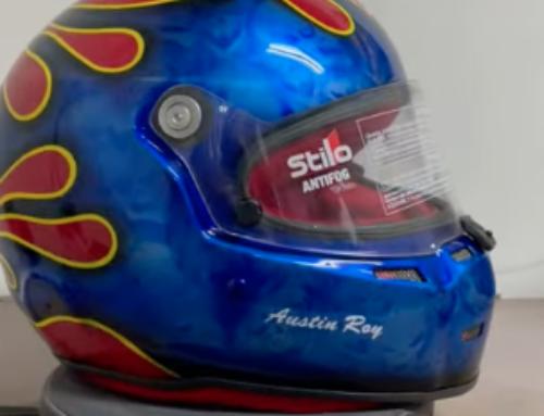 Skull Design Race Helmet